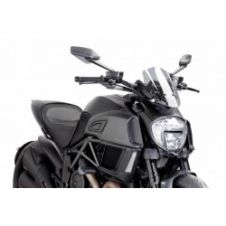 Puig Light Smoke Sport windscreen Ducati Diavel 14-16