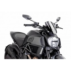 Puig Dark Smoke Sport windscreen Ducati Diavel 14-16