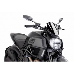 Puig Black Sport windscreen Ducati Diavel 14-16