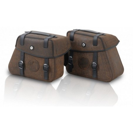 Hepco & Becker Rugged leather saddlebags for C-Bow carrier