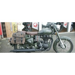 Hepco & Becker Rugged leather saddlebags Royal Enfield Bullet