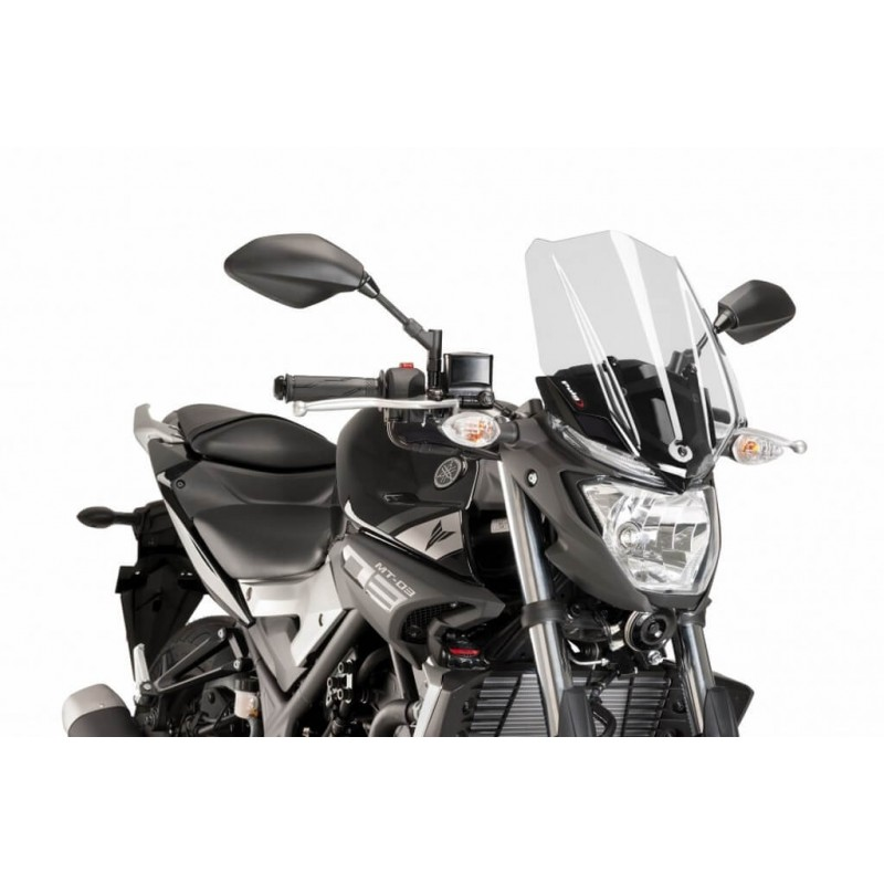 Puig Clear Windscreen Yamaha MT-03 16-17