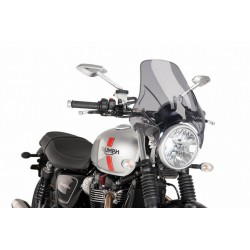 Puig Plus Light Smoke windshield Triumph Street Twin
