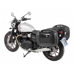 Hepco & Becker Journey Black 42L sidecases Triumph Street Twin