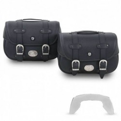Hepco & Becker Liberty Black leather C-Bow saddlebags