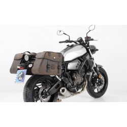 Hepco & Becker Rugged Brown leather saddlebags Yamaha XSR 700
