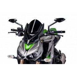 Puig Black Touring Windshield Kawasaki Z1000 14-15