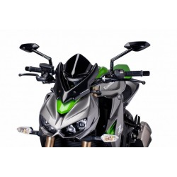 Puig Black Sport Windscreen Kawasaki Z1000 14-15