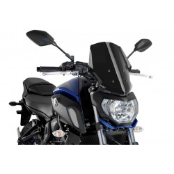 Puig Black Touring windscreen Yamaha FZ-07 18-