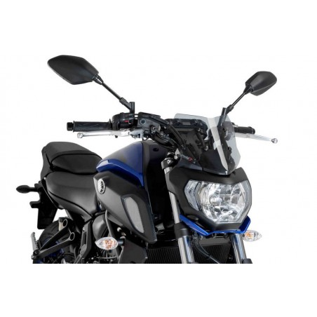 Puig Light Smoke Sport Screen Yamaha FZ07 2018-
