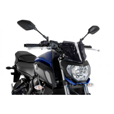 Puig Dark Smoke Sport Screen Yamaha FZ07 2018-