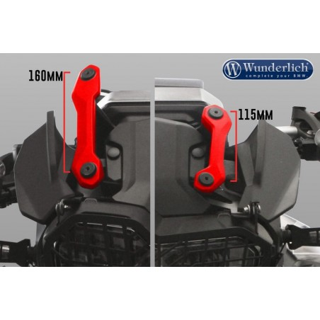 Wunderlich Clear Marathon Screen BMW F750GS F850GS Carrier Short