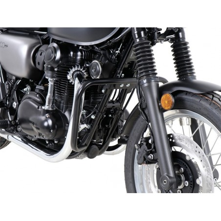 Hepco Becker Black Crash Bars Kawasaki W800 Street - Cafe