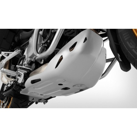 Wunderlich Silver Skid Plate BMW F750GS F850GS with oem plate