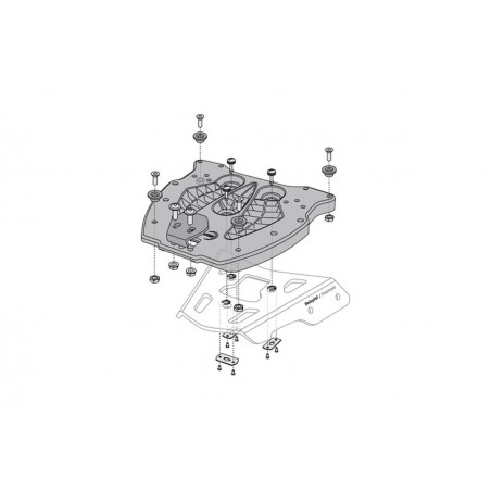 SW-Motech Quicklock adapter plate for Trax Top Case
